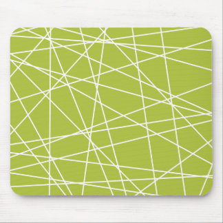 Retro Green Lines Mouse Pad