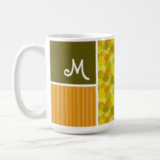 Retro Green & Orange Mugs