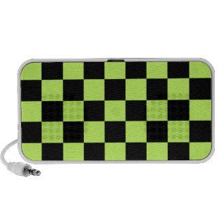Retro Green Squares Portable Speakers