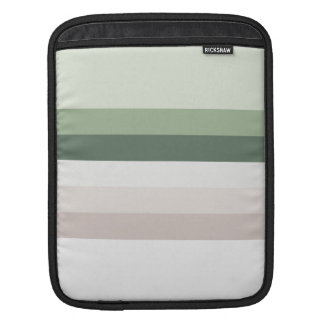 Retro Green Stripes iPad Sleeve