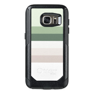Retro Green Stripes OtterBox Samsung Galaxy S7 Case