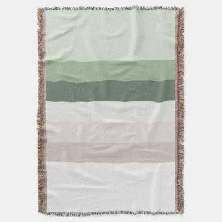 Retro Green Stripes Throw Blanket