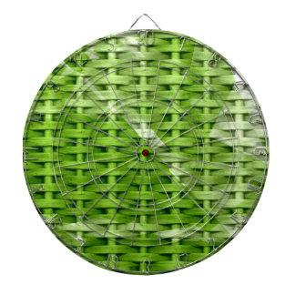 Retro green wicker art graphic design dartboards