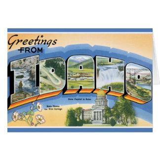 Retro Greetings From Idaho Card