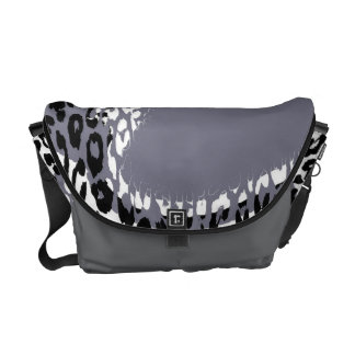 Retro Grey Leopard Print Skin and Modern design Courier Bags