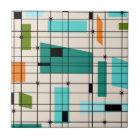 Retro Grid & Starbursts Tile