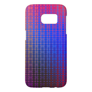Retro Grid Sunrise Samsung Galaxy S7 Case