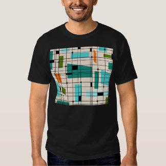 Rétro grille et T-shirt de Starbursts