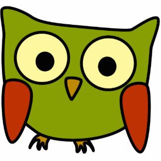 Retro Groovy Owl Christmas Ornament Photo Sculpture Ornament