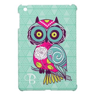 Retro Groovy Owl Teal iPad Mini Covers