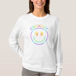Retro Groovy Pastels | Smiley Face Hoody Shirt