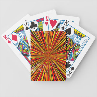 Retro Grunge Background Bicycle Playing Cards