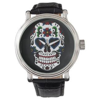 Retro Grunge Day of the Dead Sugar Skull Watch