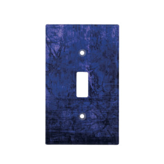 Retro Grunge Emo Navy Blue Texture Light Switch Cover