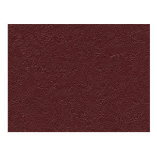 Retro Grunge Maroon Leather Texture Postcard
