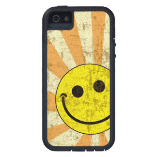 Retro Grungy Smiley Sunburst Case For The iPhone 5