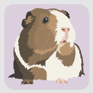 Retro Guinea Pig 'Betty' Stickers