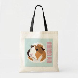 Retro Guinea Pig 'Elsie' Shopping Bag