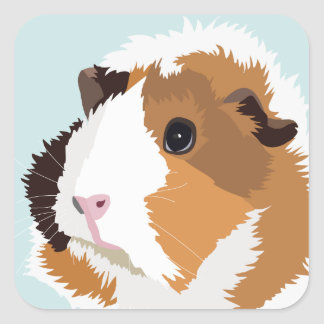 Retro Guinea Pig 'Elsie' Stickers