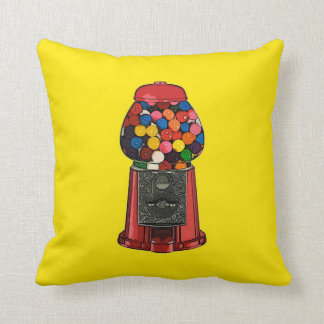 Retro Gumball Machine Throw Pillow