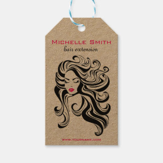 Retro Hairstyling Product hanging tags Pack Of Gift Tags