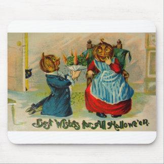 Rétro Halloween vintage meilleurs voeux Tapis De Souris