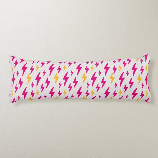 Retro Hand Drawn Lightning Pattern Body Pillow