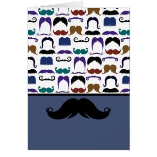 Retro Handlebar Mustache Moustache Stache Greeting Card
