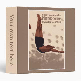 Retro Hannover Germany Sports Diving 3 Ring Binder