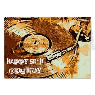 Retro Happy 50th Birthday Greetings Card