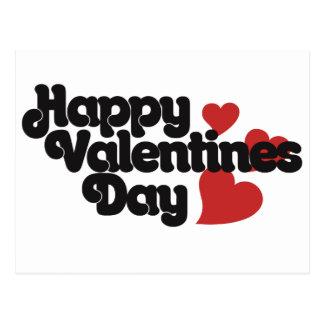 Retro Happy Valentines Day Postcard