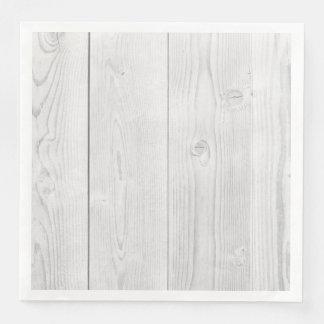 Retro Hardwood Grey Wooden Planks Paper Napkin