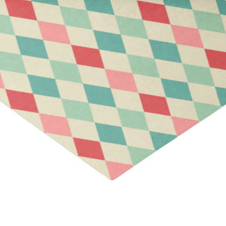 Retro Harlequin Geometric Pattern Tissue Paper