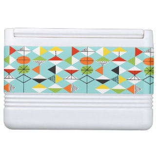 Retro Harlequin Pattern Igloo Can Cooler