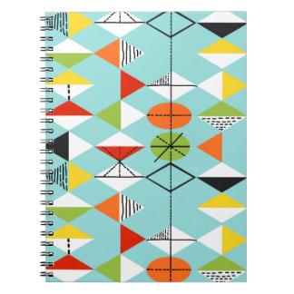 Retro Harlequin Pattern Notebook