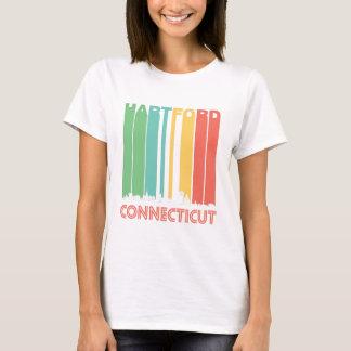 Retro Hartford Connecticut Skyline T-Shirt