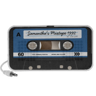 Rétro haut-parleur personnalisé par cassette bleue