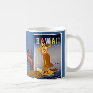 Retro Hawaii Hula Girl Art Coffee Mug
