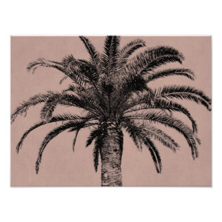 Retro Hawaiian Palm Tree - Vintage Palms Template Photo Print