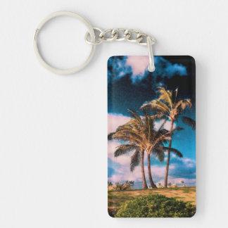 Retro Hawaiian Palm Trees Customized Palms Templat Acrylic Key Chains