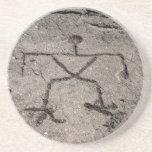 Retro Hawaiian Petroglyph - Vintage Petroglyphs Drink Coasters