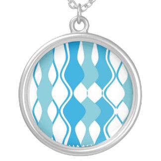 Retro Haze Round Pendant Necklace