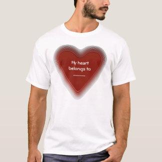 Retro heart belongs to your sweetie t shirt
