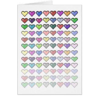 Retro Hearts Card