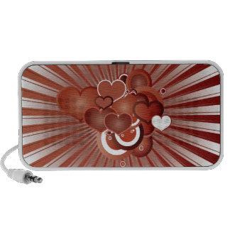 Retro Hearts iPod Speakers