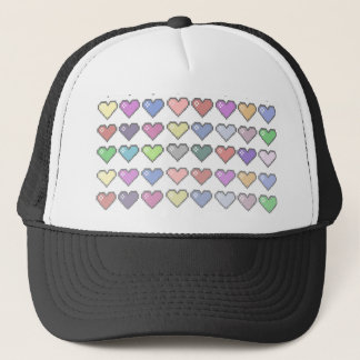 Retro Hearts Trucker Hat
