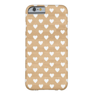 Retro hearts wood background girly heart pattern barely there iPhone 6 case