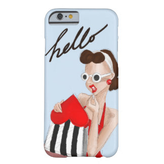 Retro Hello Gal Barely There iPhone 6 Case