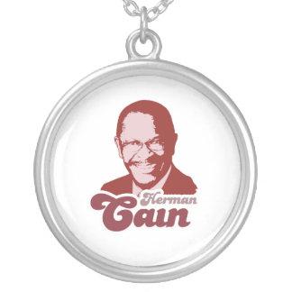 Retro Herman Cain Round Pendant Necklace