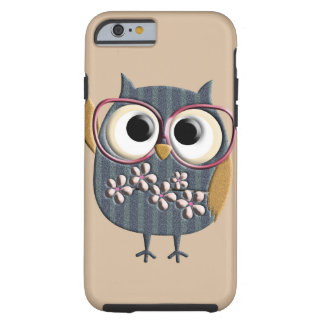 Rétro hibou vintage coque tough iPhone 6